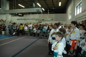 National Anthem played at the beginning of April 21, 2012 Grandmaster Huang's Tien Shan Pai Legacy Tournament at U.S. Martial Arts Academy in Timonium, Maryland