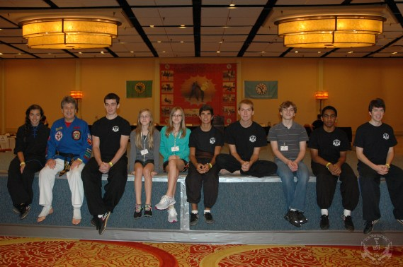 US Martial Arts Academy, Ltd. students, competitors, and volunteers at the 2012 U.S. International Kuo Shu Championship Tournament in Hunt Valley, Maryland