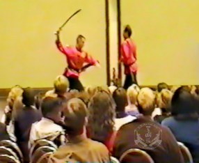 Jim Scarbrough and Jeff Zukor at the 1995 US International Kuo Shu Championship Tournament, Hunt Valley, Maryland