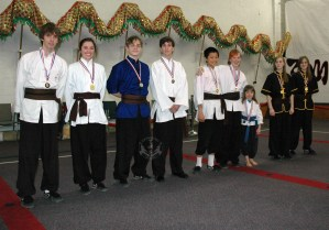 medal winners at the March 2013 In-house Tournament at U.S. Martial Arts Academy, Ltd Timonium, Maryland