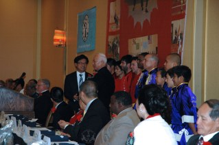 Award ceremony at the 2013 U.S. International Kuo Shu Championship Tournament in Hunt Valley, Maryland