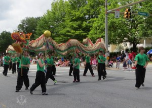 US Martial Arts Academy, Ltd. instructors, students, and family members at the 2013 Towson July 4th Parade