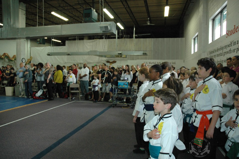 National Anthem played at the beginning of 2012 Grandmaster Huang's Tien Shan Pai Legacy Tournament at U.S. Martial Arts Academy in Timonium, Md