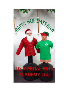 Happy Holidays from US Martial Arts Academy, Ltd and their Holiday Bobs!