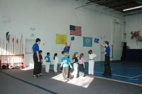 Target practice in the Kung Fu Kids class at US Martial Arts Academy, Ltd, Timonium, MD 21093, www.usmaltd.com 410-561-9882 ©2015 Maricar Jakubowski All rights reserved. No usage allowed in any form without the written consent of the photographer.