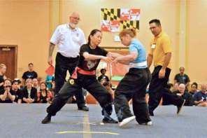 Pushing Hands Sparring at the 2013 U.S. International Kuo Shu Championship Tournament in Hunt Valley, Maryland