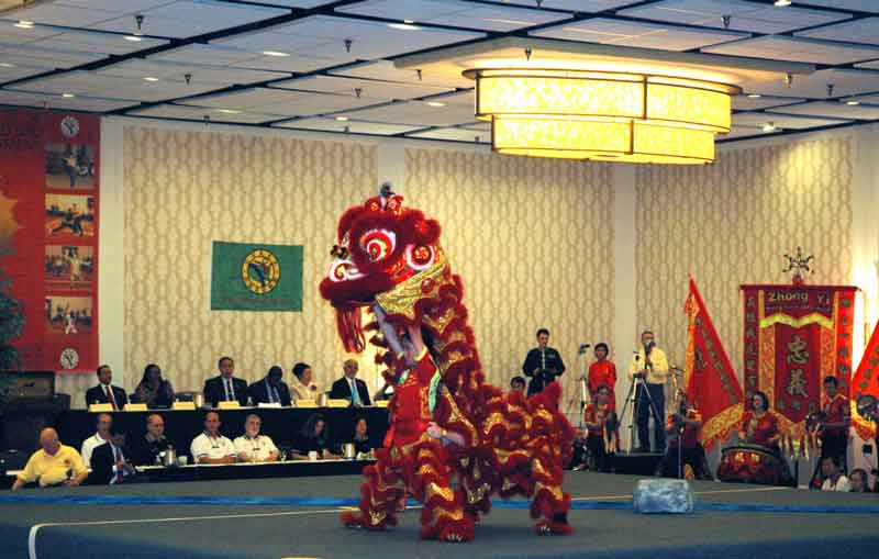 Lion Dance performance at the 2013 U.S. International Kuo Shu Championship Tournament in Hunt Valley, Maryland