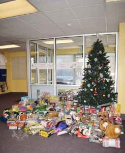 US Martial Arts Academy, Ltd holiday gifts collected for St. Vincent's Villa 2017 Season of Wonder.