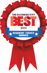 the Baltimore Sun's 2019 Best in Baltimore for Martial Arts Classes winner badge