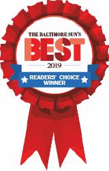 the Baltimore Sun's 2019 Best in Baltimore for Martial Arts Classes winner badge