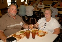 Tom & Becky Snyder at the Parris Island mess hall ...
