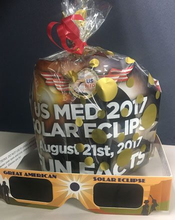 US MED Eclipse Employee Gifts