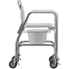 Chair On Wheels Chicco High Parts Replacement Commode Shower With Wheelchairs