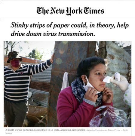 u-Smell-it Test Featured on New York Times