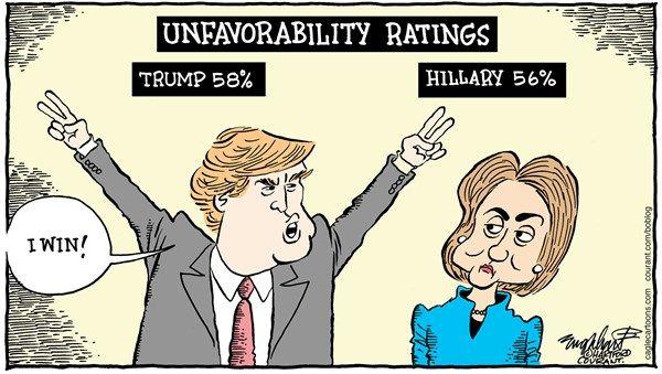 "Image result for trumpo hillary debate cartoon ""media bias"""