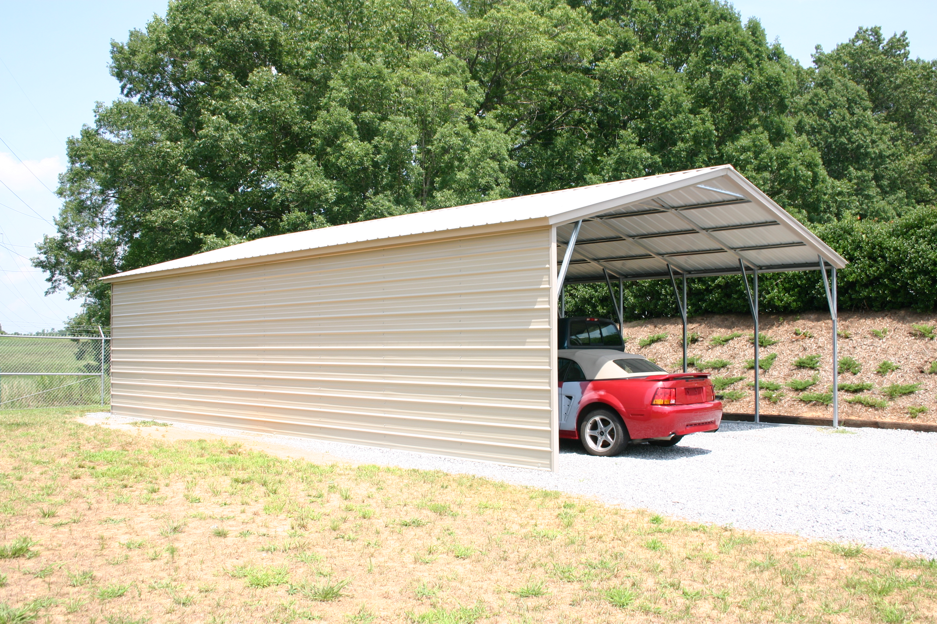 Carport Roofs Amp Double Carport Flat Roof Timber