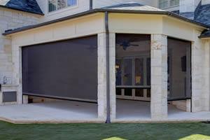 retractable screen outdoor patio
