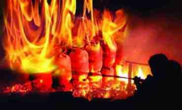हेटौडामा ग्यास सिलिन्डर विस्फोट,७०  घाइते