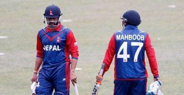 विश्व क्रिकेट लिग: ६ औं विकेट झर्यो ,आलम आउट रेग्मी ईन