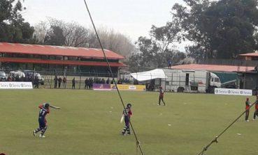 विश्व क्रिकेट लिग : नेपालले १०० रन पुरा,लगातार  ३ चौका दर्शक उत्साहित