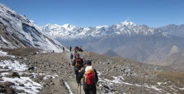 सन् २०१७ मा अन्नपूर्ण क्षेत्र :पदयात्री पर्यटकको संख्या बढेर नयाँ कीर्तिमान