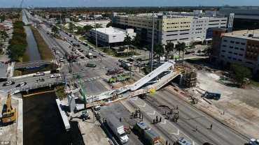 फ्लोरिडा युनिभर्सिटी नजिक आकाशे पुल भत्किंदा कम्तीमा चारजनाको मृत्यु