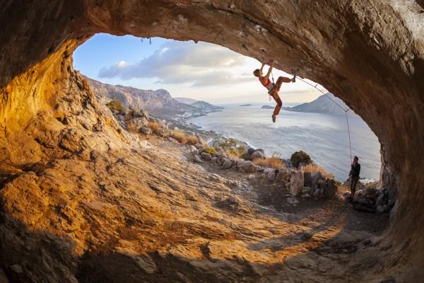 Climbing Rock Climber