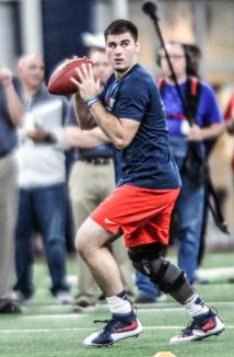 Chad Kelly Leaves Ole Pro Day Wrist Injury