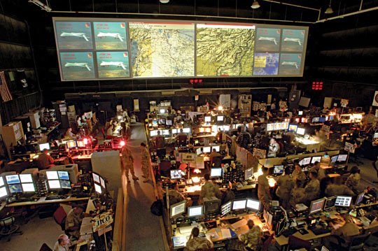 A Look Inside the Air Forces Control Center for Iraq and
