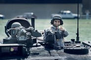 Michael Dukakis in an M1 Abrams tank.