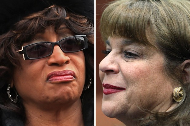 Rep. Corrine Brown, left, says State Attorney Angela Corey, right, is notorious among her constituents for overcharging.