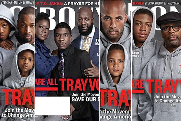 Trayvon Martin Support Cover of Ebony Magazine