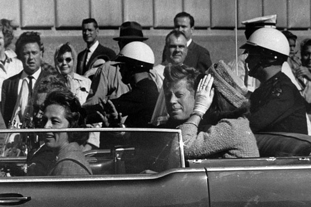 President John F. Kennedy is seen approximately one minute before he was shot. (AP)