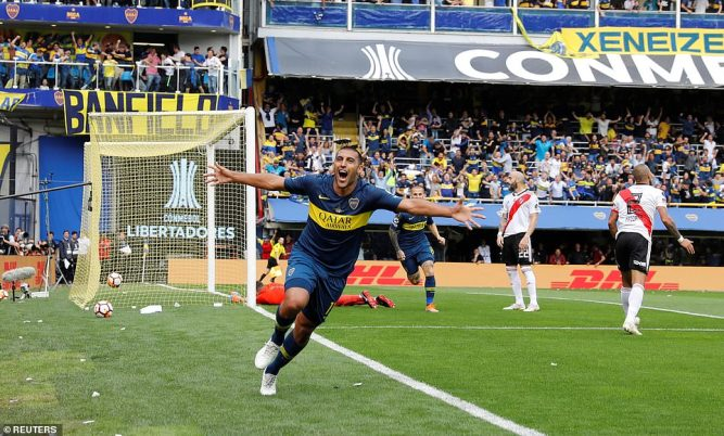 Boca Juniors 2-2 River Plate: Schelotto's men held to draw in Copa Libertadores final first leg 1