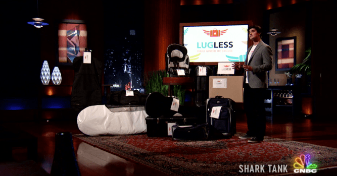 'Shark Tank' hopeful LugLess 'blacked out' on his pitch to panel 10