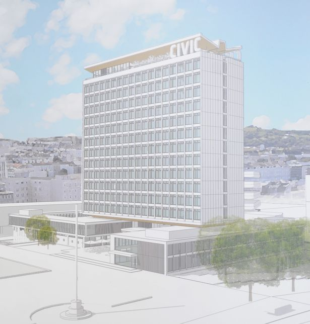 Plan to convert disused Civic Centre tower into £40m block of flats 1