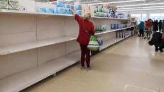 Coronavirus: Supermarkets ask shoppers to be 'considerate' and stop panic buying 1