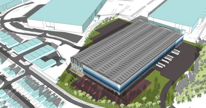 Warehouse plan for former Stoke Potters speedway site 1