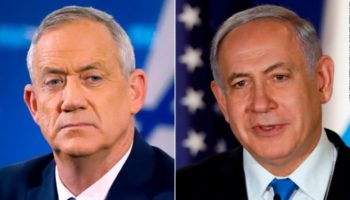 Netanyahu Gantz AP