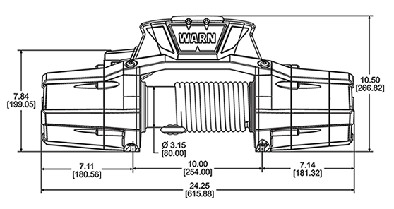 Warn Zeon 12-S 12,000 LB Platinum Recovery Winch