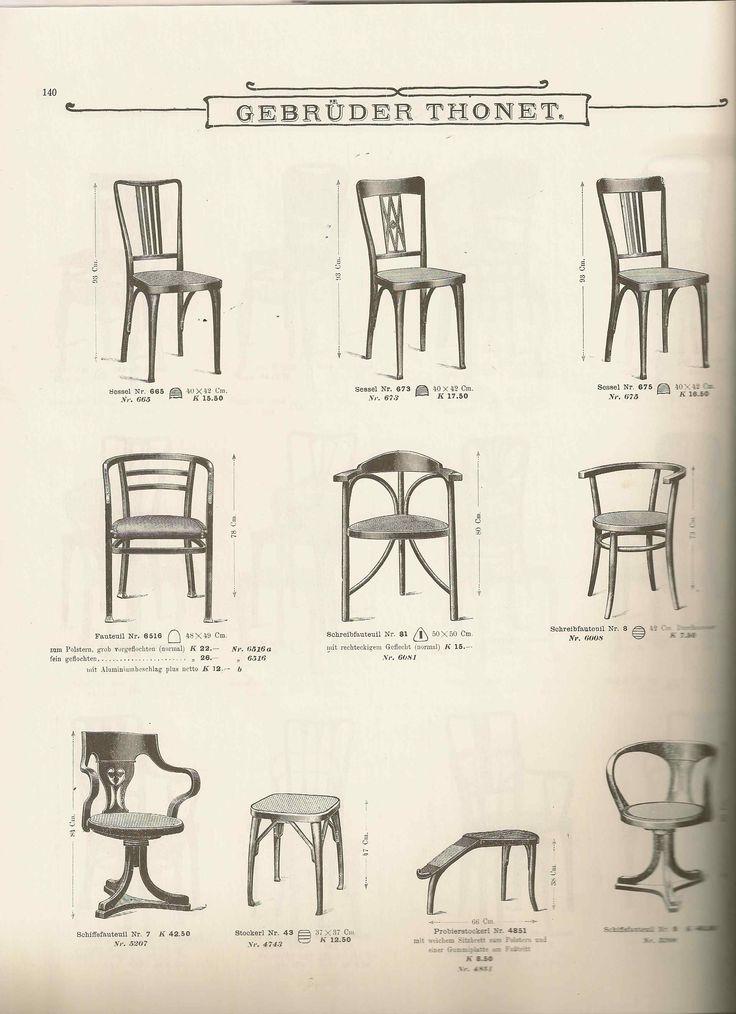 sei sedie Thonet modello 675  Uso Interno