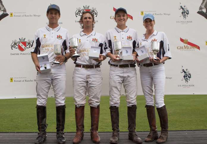 2020 National Amateur Cup winners - Hanalei Bay (L to R) Alejandro Gonzalez, Taylor Freeman, Ryan Kerley, Krista Bonaguidi.