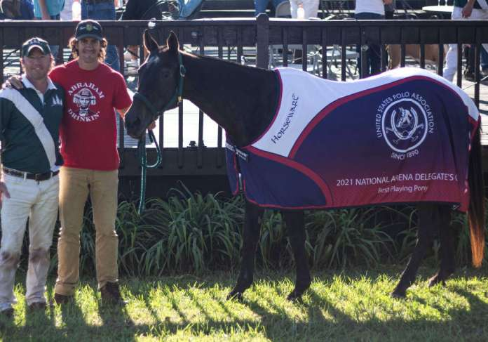 Best Playing Pony was awarded to Chiquita, played and owned by Will Bolland. Pictured with Emilio Berenguer. ©Lindsay Dolan