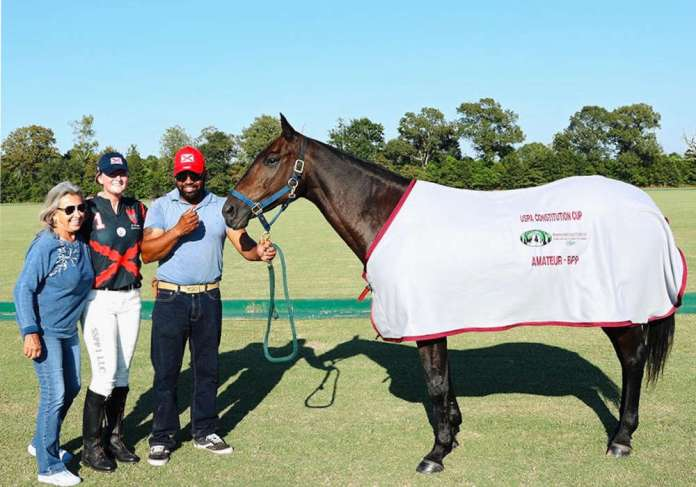 Amateur Best Playing Pony was awarded to Jada, played and owned by Ariana Gravinese, pictured with Michelle Raab and Luis Carrion.