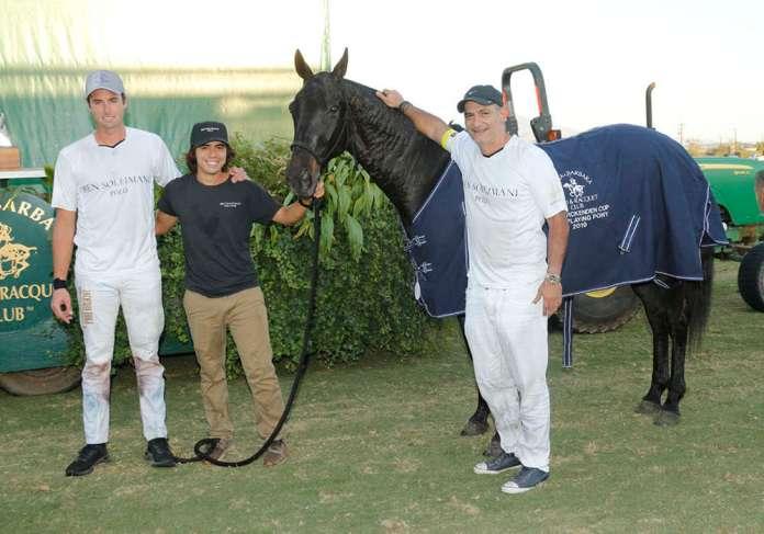 Best Playing Pony Casanova played by Santi Von Wernich, pictured with Ben Soleimani.