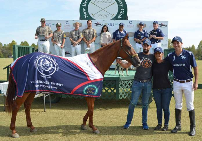 BPP Chelo Buenavida, played and owned by Costi Caset and pictured with Luciano Croizet and Cecelia Fadiga.