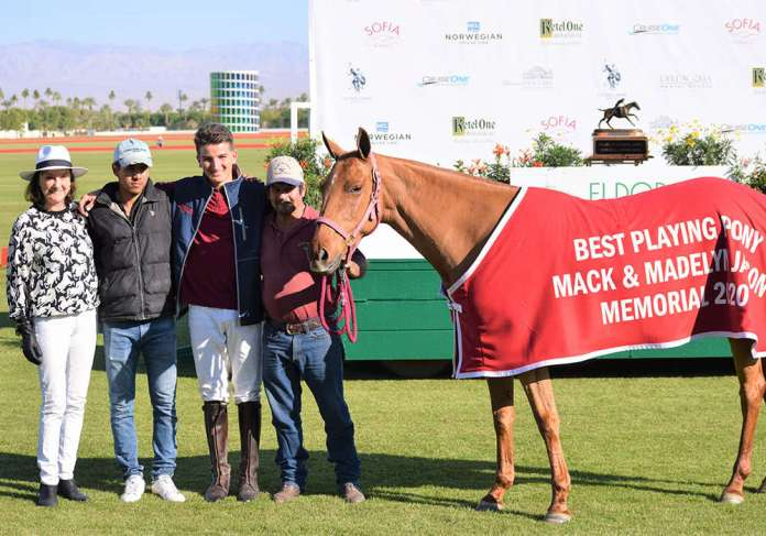 Best Playing Pony Ata, owned by Geoff Palmer and played by Grant Palmer. Pictured with Lyn Jason Cobb, Carlos Garcia and Arturo Metancur.