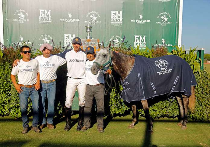 Best Playing Pony Twiggy, played and owned by Jeff Hall, pictured with Juan Garduno, Jose Oyeneder and Dario Arabena