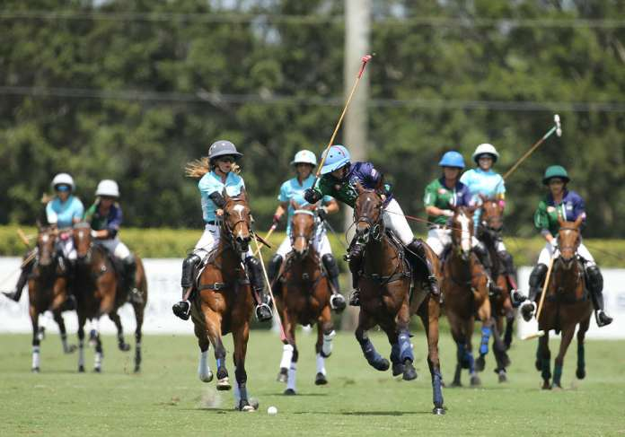 All eight players in the 2021 U.S. Open Women's Polo Championship® were closely marked in the hard-fought final.