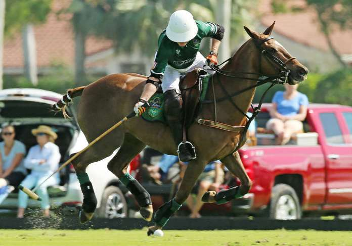 Tonkawa's Jeff Hildebrand competing in the 22-goal at the International Polo Club Palm Beach in Wellington, Florida. ©Alex Pacheco